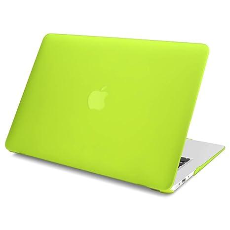 Batianda Funda Caso Mate de plástico para MacBook Air 13 Pulgadas Case Cover Carcasa rígida Protector de plástico Cubierta - Amarillo Neon