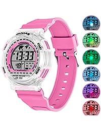 Kids Sport Digital Watches, Boys Girls Outdoor 50m...