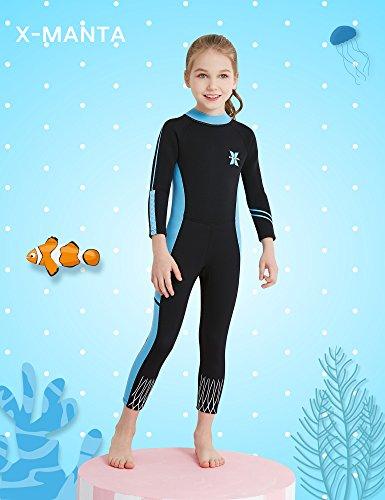 DIVE   SAIL 2.5mm Neoprene Pretty Design Sun Protection Girls Wetsuit for Swimming  Keep Warm(Blue   Black 938e1d76b