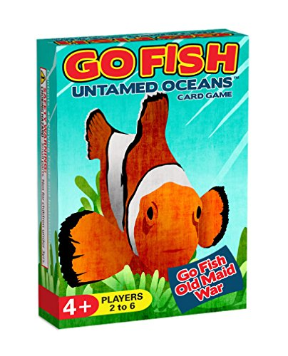 GO FISH Untamed Oceans, a 3-in-1 Classic Card Game for Kids (GO FISH, Old Maid, and War) / Three Classic Kids Games in One Beautifully Illustrated Deck Featuring Ocean Animals
