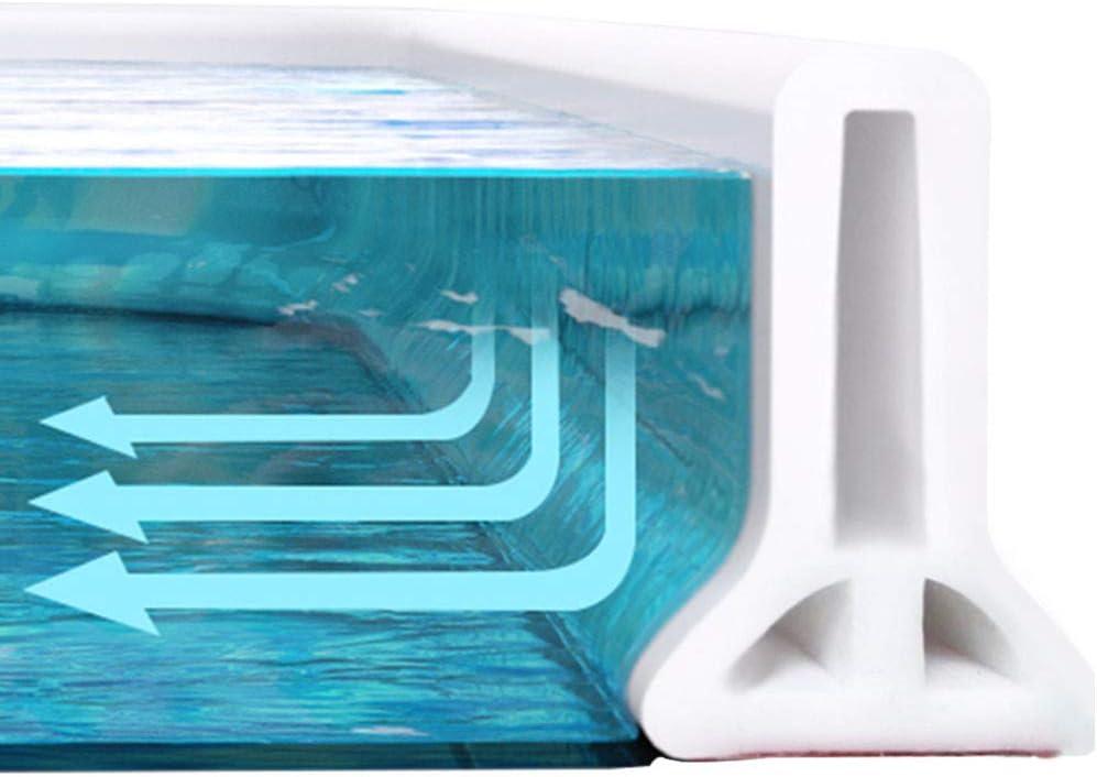 60-200cm Long Bathroom//Kitchen Shower Water Barrier Threshold Dam Floor Stopper