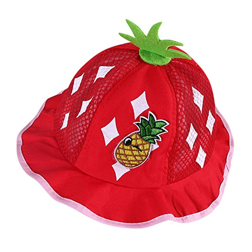 SMALLE Clearance Cute Infant Kids Baby Boys Girls Ananas Fruit Print Pattern Bucket Hats Helme Bucket Cap Sunhat (42-46cm(Head Circumference), ()