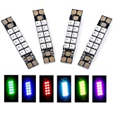 Drone Repair Parts - iFlight 4pcs FPV 5V Programmable RGB LED Lights Strip + 40A PDB 3535 Multi-Colors Race Wire for FPV Racing Drone Quadcopter(10 Lamps Board)