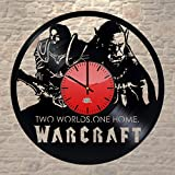 WhatsUp Store World of Warcraft Game Design Vinyl Record Wall Clock - Wonderful home room wall art decoration - Fancy gift idea for boys and girls