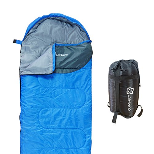 Lamberia Sleeping Bag Lightweight Portable Waterproof Envelope Sleeping Bags With Compression Sack For Adults Kids 4 Seasons Camping Backpacking