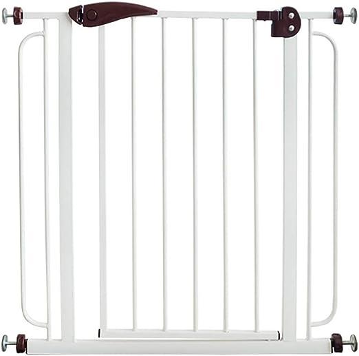 Barreras para puertas y escaleras Puerta de seguridad para niños Sacador sin peldaños Barandillas de escalera Valla para mascotas Puerta de aislamiento para valla de perro Ancho de puerta adecuado 74-: Amazon.es: