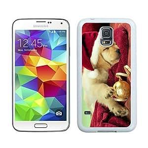 2015 Newest Christmas Dog White Samsung Galaxy S5 Case 45