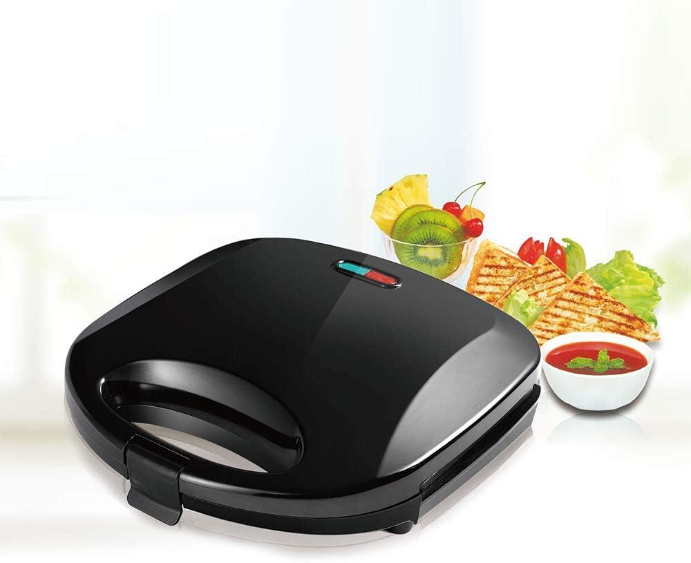 Guomao Waffle Multifunktion für den Haushalt, automatische elektrische Backform, Pancake-Heizung, Sandwich-Maschine, Frühstücksmaschine Schwarz