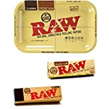 RAW Rolling TRAY KIT or SMALL TRAY + PAPER TIPS + ORGANIC PAPERS