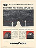 1963 Goodyear RS Aircraft Tires The World's Most Reliable Airplane Tire Print Ad (Memorabilia) (56399)