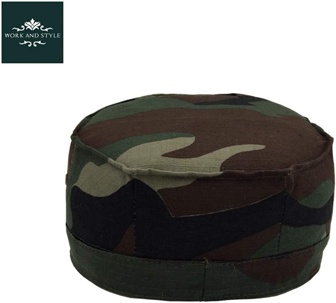 WORK AND STYLE Gorra Militar Montana Camuflaje by Verde Caqui ...