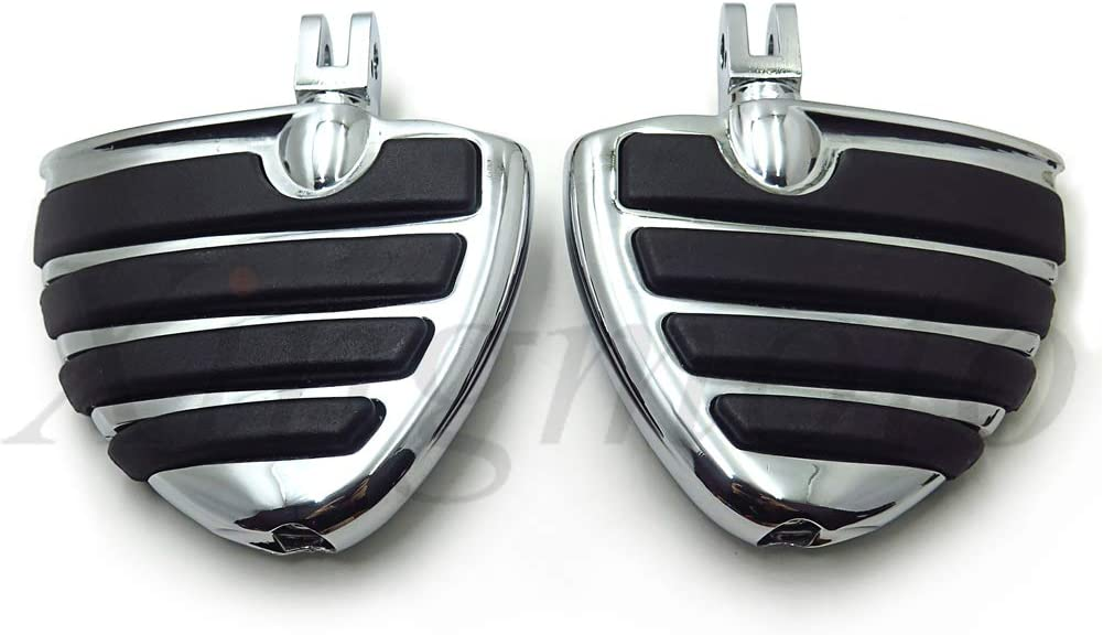 (MT216-051+PA012) Replacement of Gear Skull Footpeg For 2003-2014 Triumph Speedmaster NBX Chrome Front /& Rear