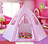 Princess Castle Tent for Kids,Labobbon Large Size New playhouse Tent Indoor for Best Birthday Gifts(pink)