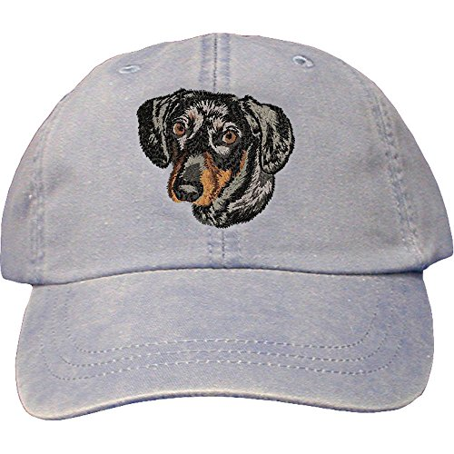 Cherrybrook Dog Breed Embroidered Adams Cotton Twill Caps - Periwinkle - ()