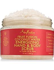 Shea Moisture Fruit Fusion Coconut Water Energizing Hand & Body Scrub | 12 Ounce