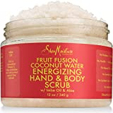 Shea Moisture Fruit Fusion Coconut Water Energizing Hand & Body Scrub | 12 Ounce