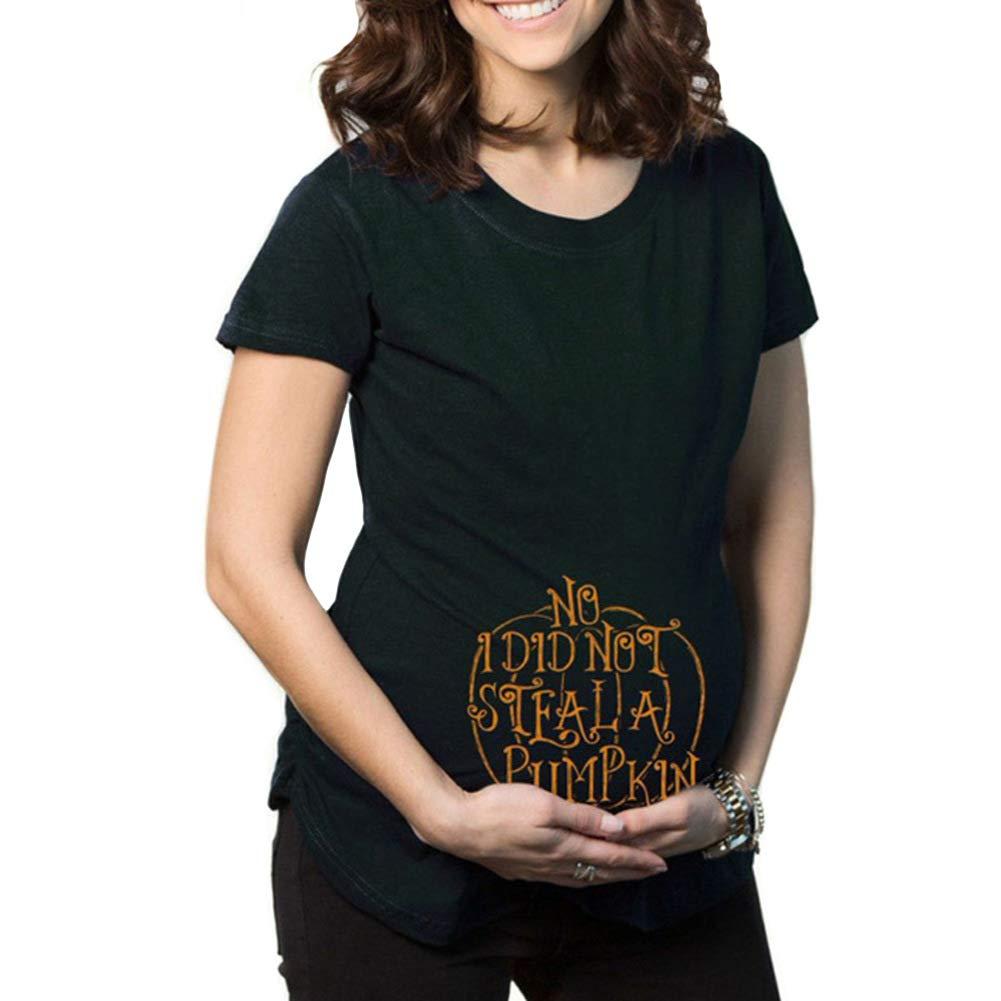 Q.KIM Witzige Schwangere Maternity Damen Umstandsmode T-Shirts