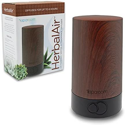 SpaRoom HerbalAir USB Ultrasonic Mister and Fragrance Diffuser, 80mL