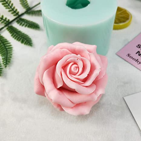 Rose Shape Silicone Mold 3D Flower Bloom Chocolate fondant Cake Handmade Soap