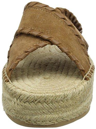 Interlace Plataforma Summer Mujer Marrón para Flatform Hilfiger Suede Sandalias Sandal 929 con Tommy Cognac S5wqU0Bn