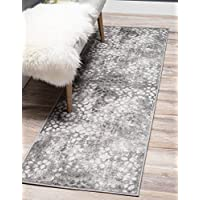 Unique Loom Sofia Collection Traditional Vintage Dark Gray Runner Rug (3 x 16)