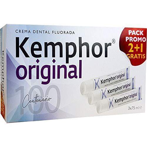 Kemphor Kemphor Dentifrico 75 Ml Familiar Pack 3X2 Original - 75 ml: Amazon.es