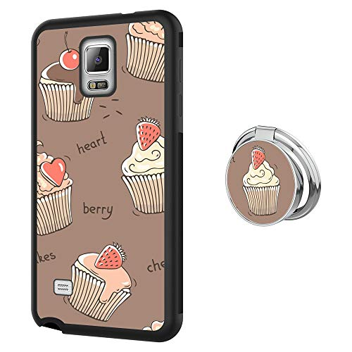 Samsung Galaxy Note 4 Ring Kickstand Cup Cake Phone Case 360 Degree Rotating Ring Buckle Case Shockproof Impact Protection [Support Magnetic Car Mount Case] for Samsung Galaxy Note 4