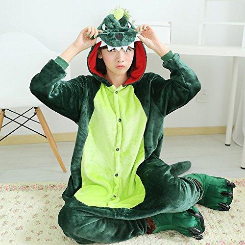Sed Unisex Di Inverno Svago Costume Piece Cosplay Animale Usura Adult Ispessimento verde One xl PigiamiPeluche QdCxWrBoe