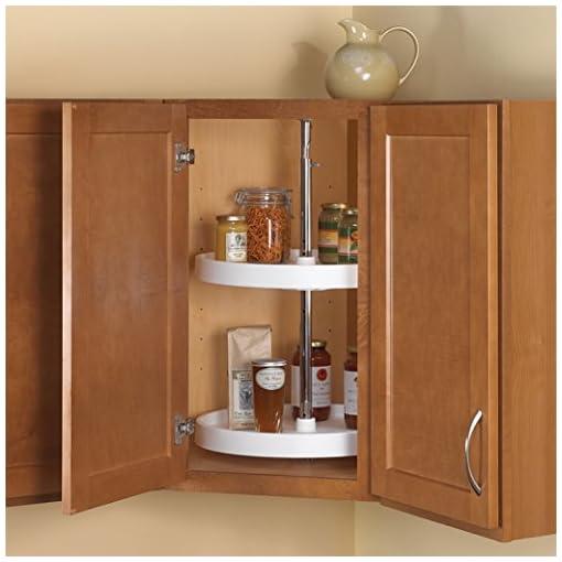 Kitchen Knape & Vogt PFN18ST-W 31.5″ by 18″ by 18″ Full-Round Polymer Lazy Susan Cabinet Organizer,White lazy susans