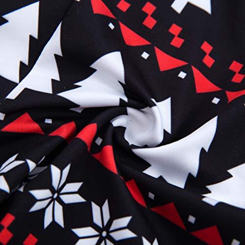 Huicai Autunno In Di Vestiti Lunga Papà Famiglia Natale Homewear 2 Nero Notte Pigiama Set Sleepshirts Inverno Pz Abbinamenti Manica Cotone qrFg07q1