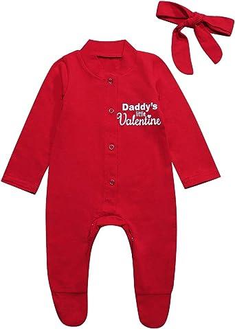 Valentine/'s Day Baby Boys Girls Bodysuit Romper Top Valentines Gift Infant One-Piece Clothes