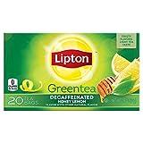 Lipton Green Tea, Decaffeinated Honey Lemon 20 ct  (Pack of 6)