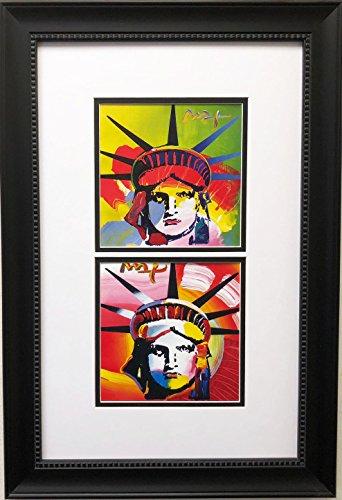 Peter Max Liberty Heads 03- 04 Newly Custom Framed Art Print 15 x 22
