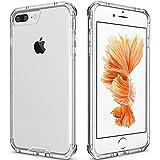 iPhone 7 Plus Case Clear, iPhone 8 Plus Case, Apriletter PC TPU Transparent Case for iPhone 7/8 Plus Clear Case With Bumper (Clear)