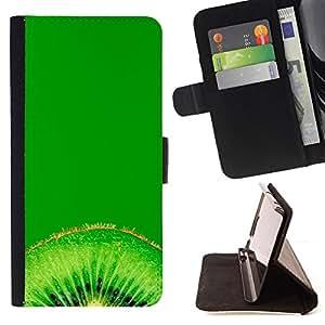 - Fruit Kiwi Macro - - Monedero PU titular de la tarjeta de cr????dito de cuero cubierta de la caja de la bolsa FOR Sony Xperia Z1 L39 RetroCandy