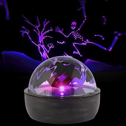 Gemmy Shadow Lights Multi-Function Purple Led Multi-Design Halloween Indoor Tabletop Projector -