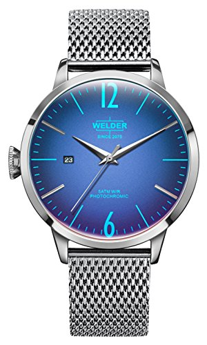 Welder Moody Stainless Steel Mesh 3 Hand Watch with Date 42mm