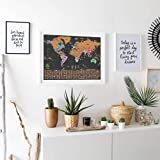 Scratch Off World Map Poster – Deluxe Travel