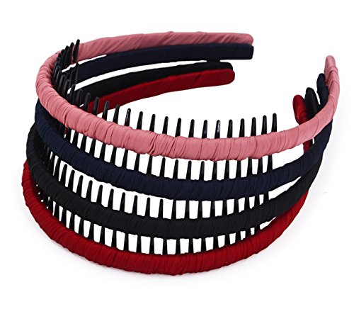 Price comparison product image STHUAHE4PC Multicolor Protection Resin Teeth Comb Hair Hoop Hairband Headband Hair Accessories by Beauty hair (4 color)