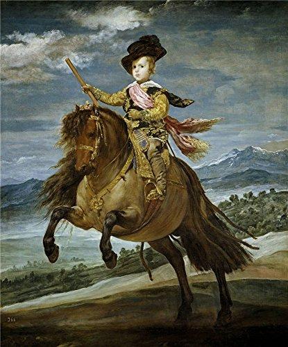 Oil painting ` Velazquez Diego Rodriguez de Silva y Princeバルタサール・カルロスon Horseback 163536`印刷on Perfect effectキャンバス、10x 12インチ/ 25x 31cm、最高のゲームルームDecorとホームギャラリーアートとギフトはこのが安いアート装飾アート装飾プリントキャンバス