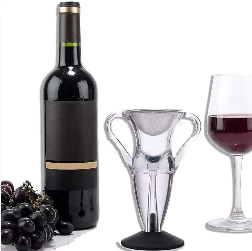 LUCKYGBY Weinbel/üfter Ausgie/ßer Wein Dekanter Dekantierer Rotwein Aerator Set Magic Decanter Deluxe Schnellest Ern/üchternd Wein Bel/üfter Weindekanter Standfu/ß Ausgie/ßer Diffusor