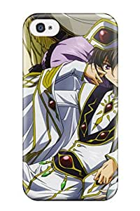 New Arrival Code Geass Kururugi Suzaku Lamperouge Lelouch Cc Anime For Iphone 4/4s Case Cover