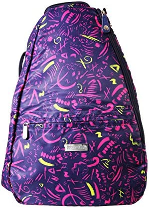 Pickleball Marketplace Ladies Printed Backpack - Multi-ColorPrima Donna Design - Great for Pickleball - Carries Pickleball Gear / Pickleball Marketplace Ladies Printed Backpack - Multi-ColorPrima Donna Design - Great for Pickleball...