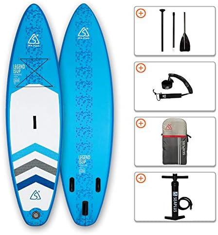 [해외]스탠드 업 패 들 보드 sup 풍선 SUP サップボ?ド 서핑 보드 SEAPLUS L-BN 325 * 81 * 15cm 최대 적재 무게 130kg 펌프, 라켓, 가방, 가죽 끈, 핀을 포함 하 여 / Stand-up paddle board sup inflatable SUP board surfboard SEAPLUS L-BN 325*81*15c...