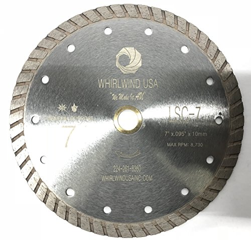Whirlwind USA LSC 7-Inch Dry or Wet Cutting General Purpose Continuous Turbo Power Saw Diamond Blades for Concrete, Masonry, Stone (Factory Direct Sale) (7