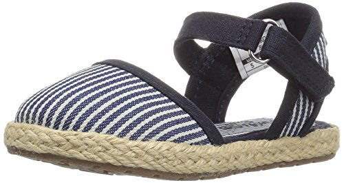OshKosh B'Gosh Shiloh Girl's Espadrille Sandal, Navy, 10 M US Toddler