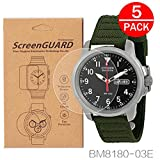 (US) [5-Pack] For Citizen BM8180-03E Watch Screen Protector, Full Coverage Screen Protector for Citizen BM8180-03E Watch HD Clear Anti-Bubble and Anti-Scratch