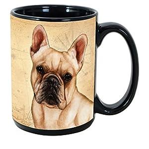 Imprints Plus Dog Breeds (E-P) French Bulldog 15-oz Coffee Mug Bundle with Non-Negotiable K-Nine Cash (french bulldog 078) 1