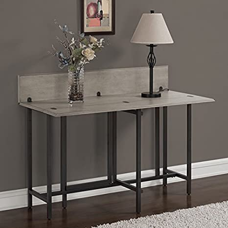 Amazon Com Convertible Wood Dining Table Grey Tables