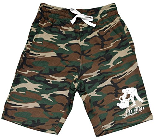 Men's MMA Jiu Jitsu Emblem Camo Fleece Jogger Sweatpant Gym Shorts – Sports Center Store
